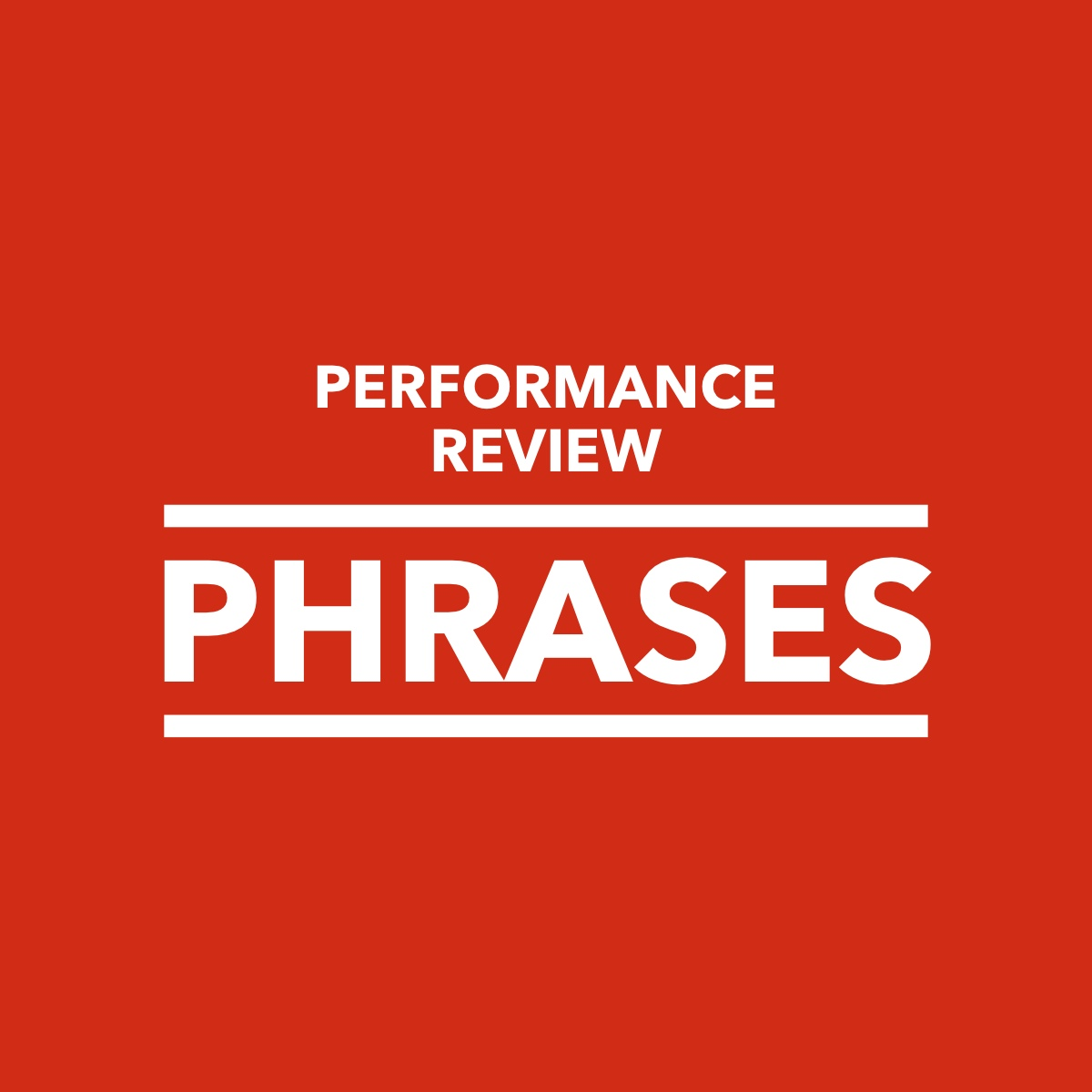 Comments: Performance Review Phrases