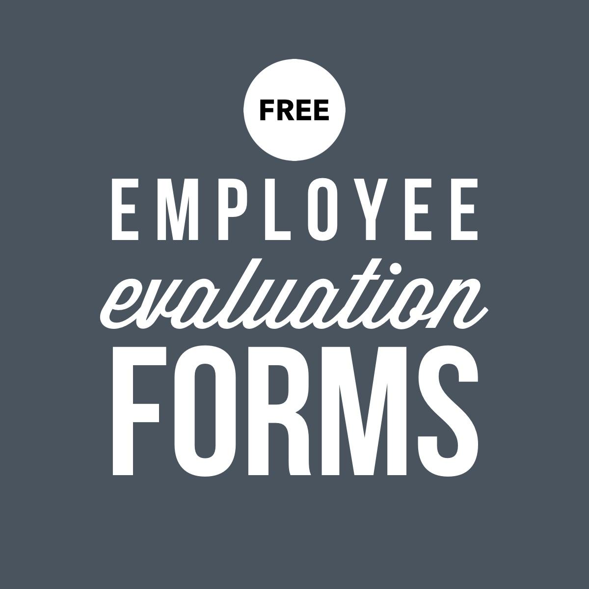 printable employee performance evaluation form